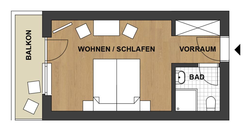 Schwanner Wirt - Skizze vom Ferienzimmer