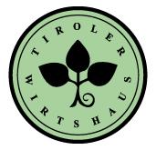Schwanner Wirt -Gruenes Logo mit dem Titel Tiroler Wirtshaus